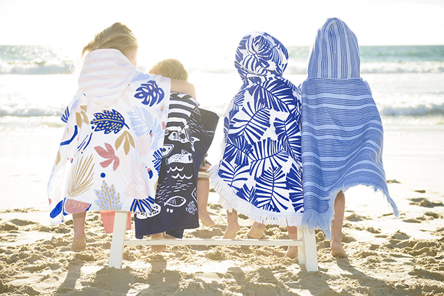 children kids beach hooded